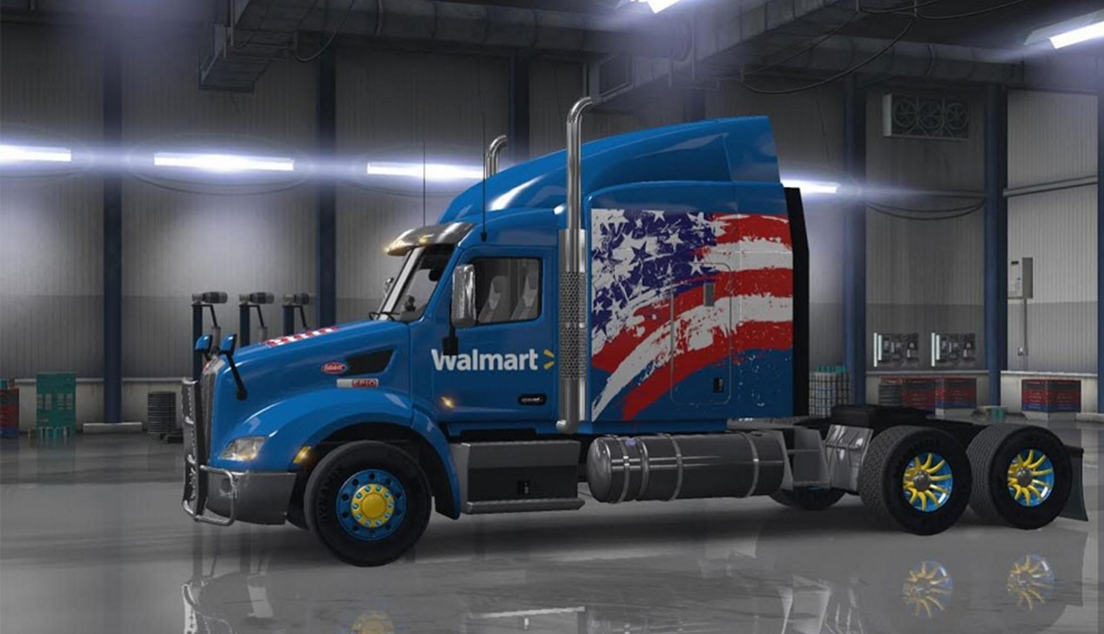 Walmart Skin Usa Edition For Peterbilt 579 Mod 1