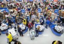 Walmart Sign Black Friday Crowd 218x150